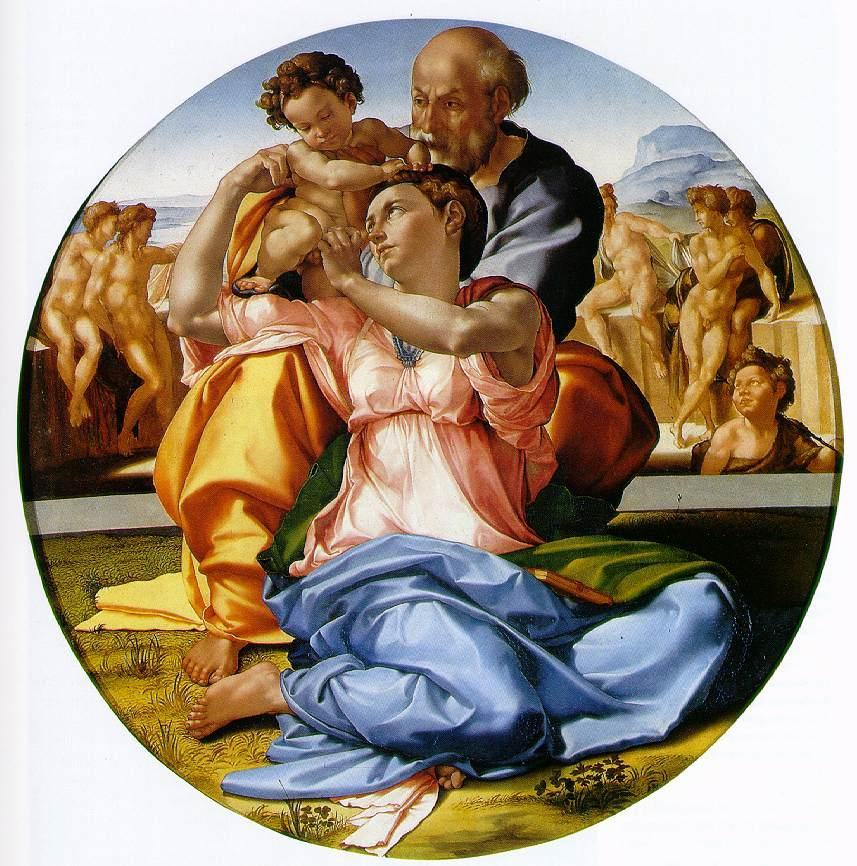 Michelangelo Buonarroti The Holy Family with the Infant John the Baptist