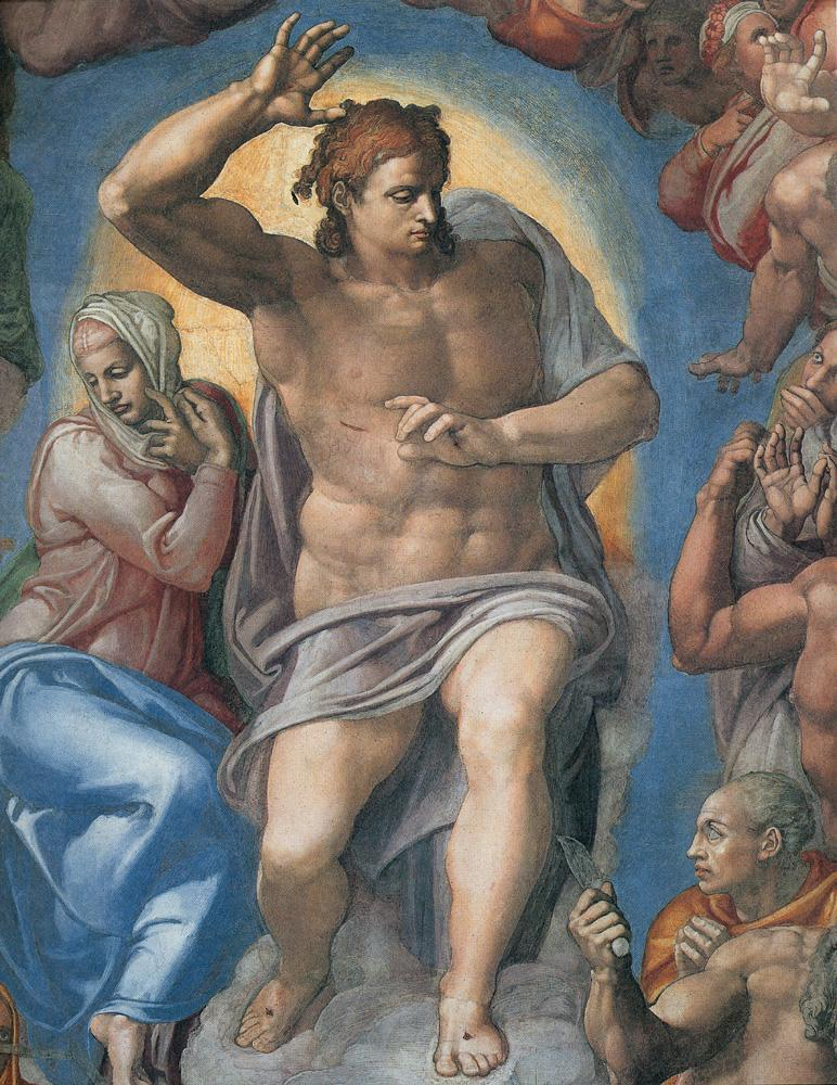 Michelangelo Buonarroti The Last Judgement Christ the Judge