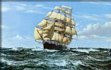 Home Canvas Paintings - Racing Home, The Cutty Sark