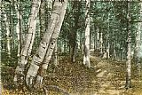 Famous Path Paintings - Riverside Path, White Mountains, New Hampshire
