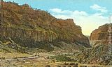 Norman Parkinson Ten Sleep Canyon, Wyoming painting
