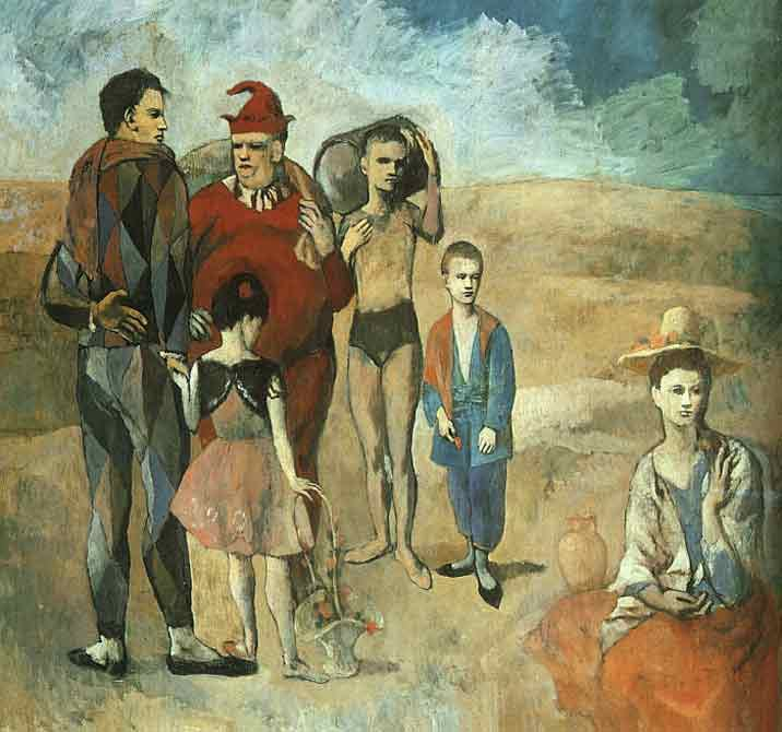 Pablo Picasso Family at Saltimbanquesc
