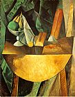 Pablo Picasso Bread and Fruit Dish on a Table painting