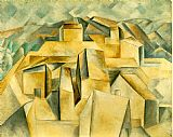 Pablo Picasso Houses on the Hill Horta de Ebro painting
