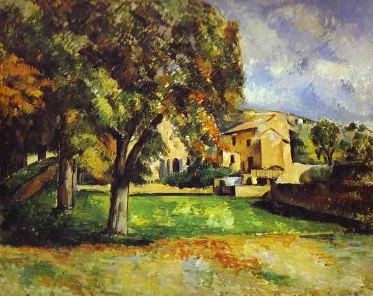 Paul Cezanne Trees in Park