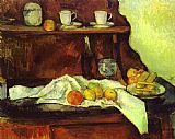 Paul Cezanne Canvas Paintings - A Buffet