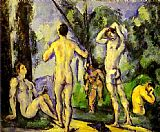 Paul Cezanne Canvas Paintings - Bathers in the Open Air