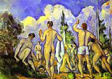 Paul Cezanne Canvas Paintings - Bathers