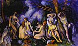 Paul Cezanne Canvas Paintings - Big Bathers