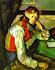 Paul Cezanne Canvas Paintings - Boy in a Red Waistcoat