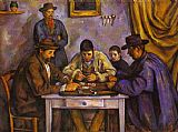 Paul Cezanne Canvas Paintings - Card Players