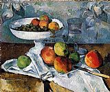Paul Cezanne Compotier and still life painting