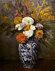Paul Cezanne Canvas Paintings - Dahlias 1875