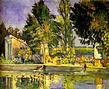 Paul Cezanne Famous Paintings - Jas de Bouffan the Pool