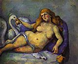 Paul Cezanne Leda with Swan painting