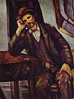 Paul Cezanne Famous Paintings - Man Smoking a Pipe