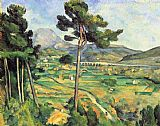 Famous Mount Paintings - Mount Sainte-Victoire Seen from Bellevue