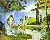 Paul Cezanne Famous Paintings - Six Women Bathing