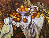 Paul Cezanne Famous Paintings - Still Life with Apples and Oranges