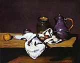 Paul Cezanne Famous Paintings - Still Life with Kettle