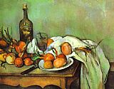 Paul Cezanne Famous Paintings - Still Life with Onions