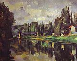 Paul Cezanne Famous Paintings - The Banks of the Marne