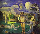 Paul Cezanne The Bathers Resting painting