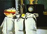 Paul Cezanne The Black Clock painting