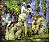 Paul Cezanne Three Bathers painting
