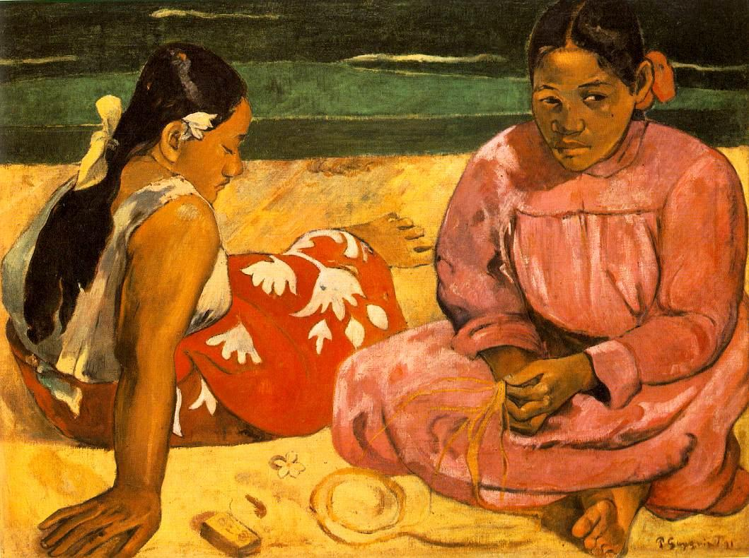 Paul Gauguin Tahitian Women On the Beach