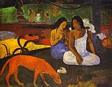 Paul Gauguin Famous Paintings - Arearea