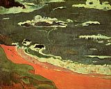 paul gauguin Canvas Paintings - Beach at Le Pouldu