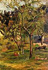 Paul Gauguin Canvas Paintings - Children in the Pasture
