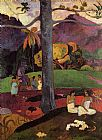 Paul Gauguin In Olden Times painting