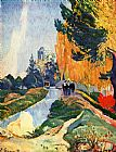 Paul Gauguin Famous Paintings - Les Alyscamps