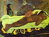 Paul Gauguin Famous Paintings - Manao tupapau