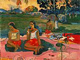 Paul Gauguin Famous Paintings - Nave Nave Moe