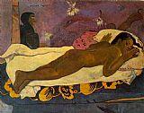 Paul Gauguin Famous Paintings - Spirit of the Dead Watching