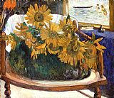 Still Life with Sunflowers on an Armchair