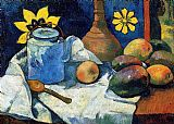 Famous Fruit Paintings - Still Life with Teapot and Fruit