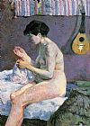 Study of a Nude Suzanne Sewing