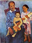 Famous Children Paintings - Tahitian Woman and Two Children
