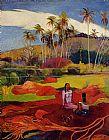 Women Wall Art - Tahitian Women under the Palms