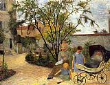 Paul Gauguin The Family in the Garden rue Carcel painting
