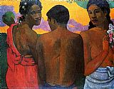 Paul Gauguin Three Tahitians painting