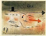 Paul Klee Canvas Paintings - 17 Astray