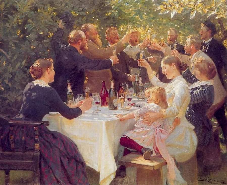 Peder Severin Kroyer Hip hip hurra