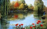 Melissa Graves-Brown Fall Reflections Giverny painting