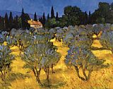 Philip Craig Les Olives en Printemps (The Olives in Spring) painting