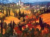 Famous Castle Paintings - Tuscan Castle